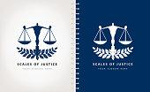 istock Scales of justice vector design 1291605015