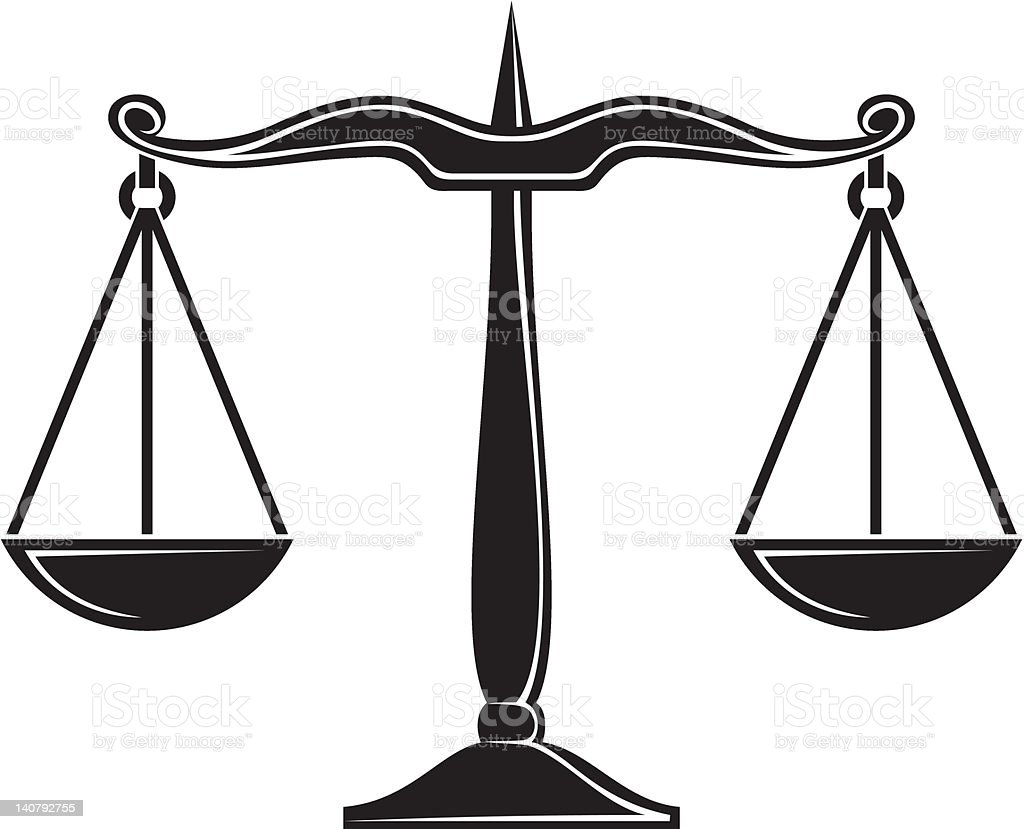 scales of justice stock vector art more images of black color rh istockphoto com scales of justice vector logo scales of justice vector logo