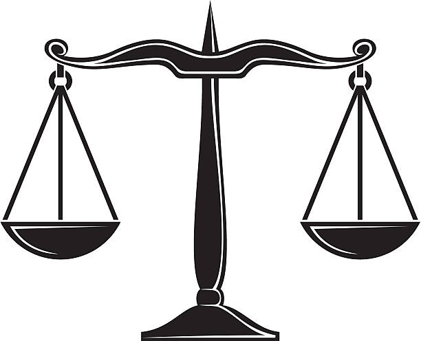 Vectores de balanzas de la justicia y illustraciones libre de derechos istock - Dessin de balance ...