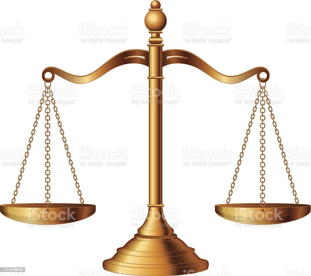 Balanzas de la justicia - ilustración de arte vectorial