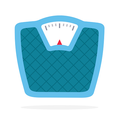 Scales vector flat material design isolated object on white background.