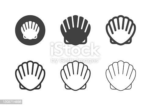Scallop Icons Multi Series Vector EPS File.