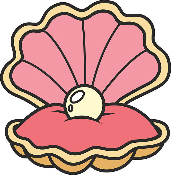 Royalty Free Open Clam Shell Clip Art, Vector Images ...