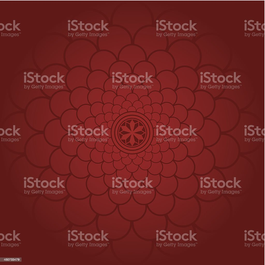 Scalloped Circles pattern vector art illustration