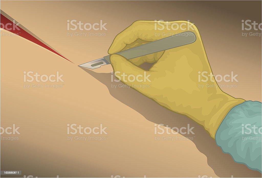Scalpel Cut vector art illustration