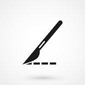 istock scalpel icon illustration isolated vector sign symbol 865700534