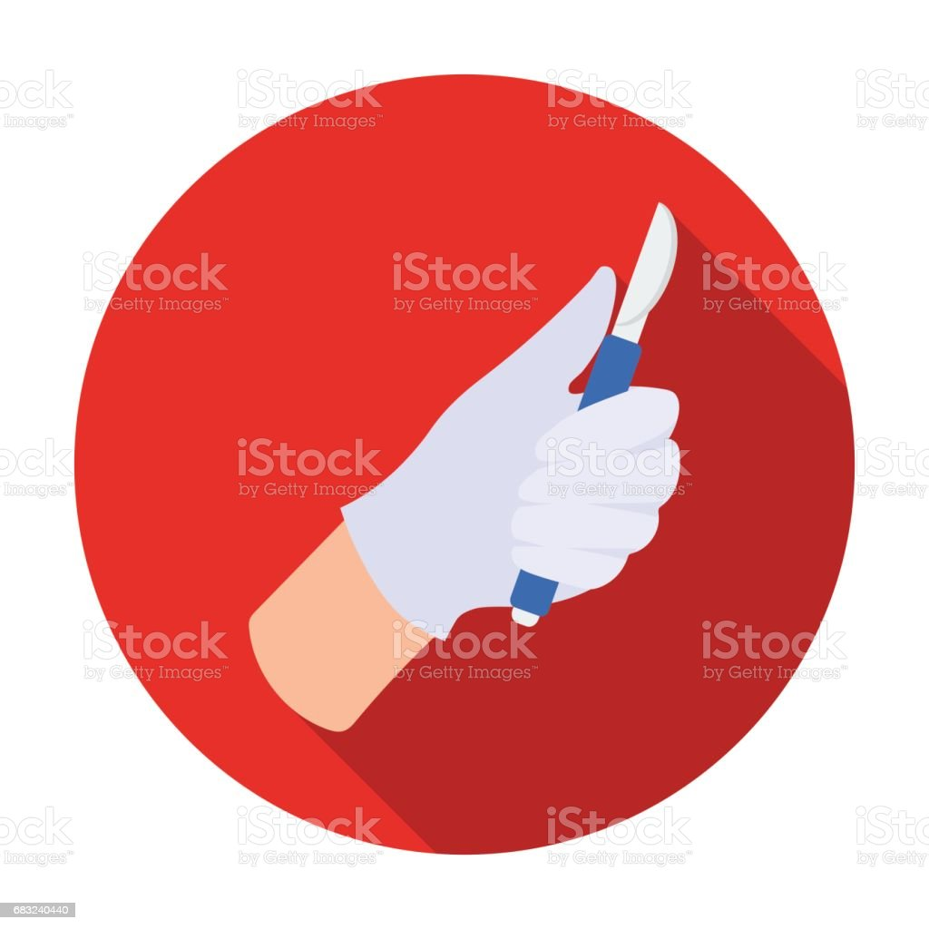 Scalpel icon in flat style isolated on white background. Skin care symbol stock vector illustration. ロイヤリティフリーscalpel icon in flat style isolated on white background skin care symbol stock vector illustration - イラストレーションのベクターアート素材や画像を多数ご用意