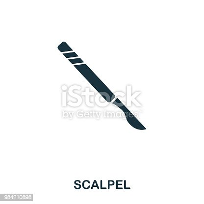 Scalpel icon. Line style icon design. UI. Illustration of scalpel icon. Pictogram isolated on white. Ready to use in web design, apps, software, print