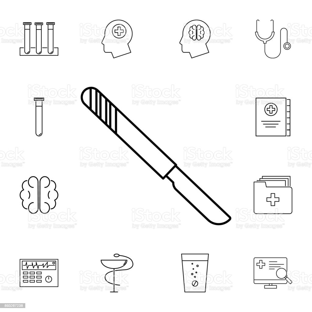Scalpel line icon. Set of medicine tools icons. Web Icons Premium quality graphic design. Signs, outline symbols collection, simple icons for websites, web design, mobile app vector art illustration