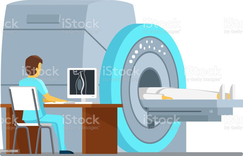 MRI scan and diagnostics. Health  care vector concept vector art illustration