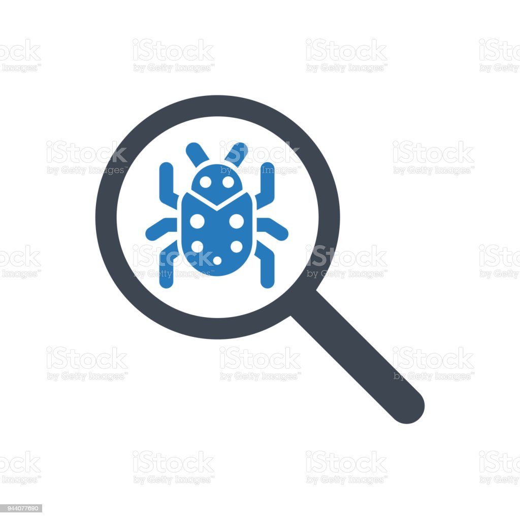 Scan Search Bug Icon Stock Illustration - Download Image Now
