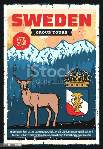 istock Scandinavia travel adventure, Sweden city tours 1225420688