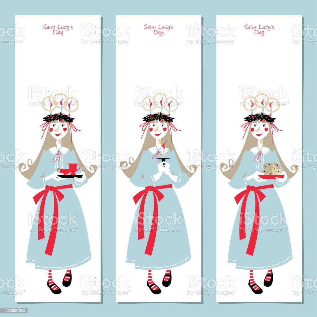 scandinavian christmas set labels postcard bookmark insert template
