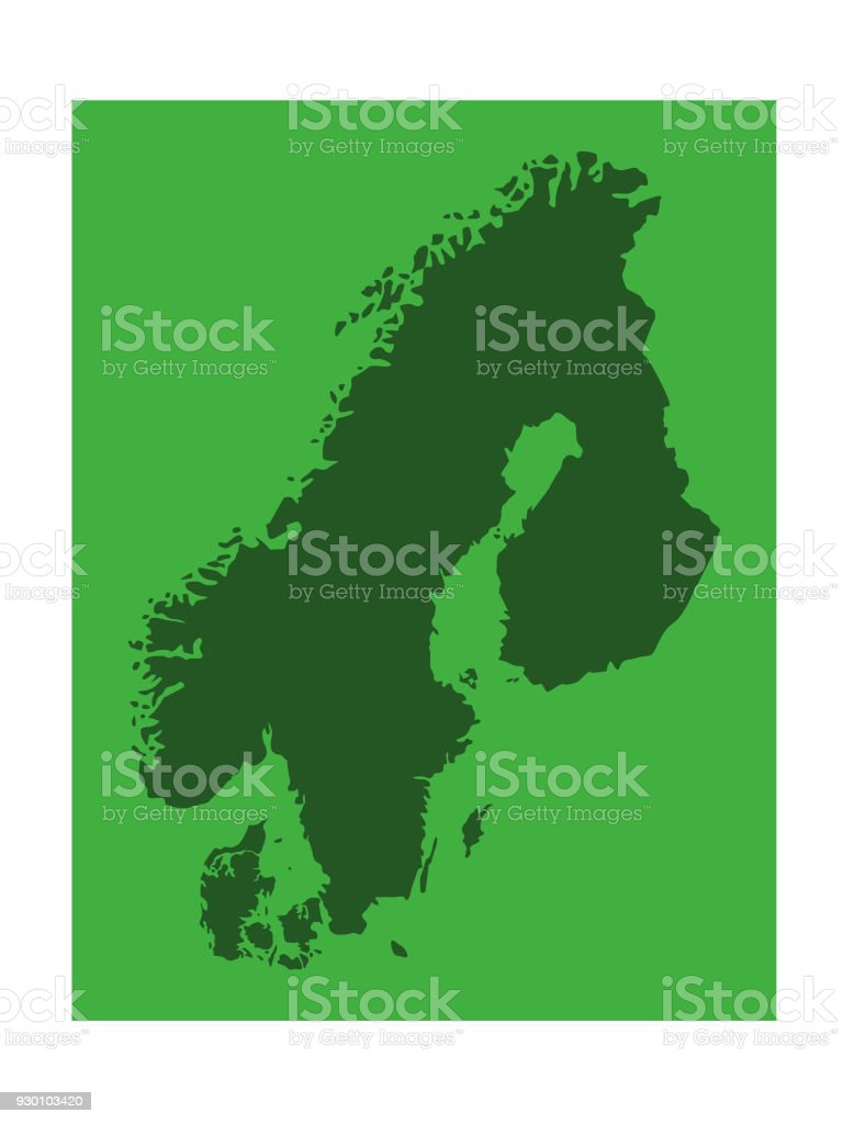 Scandinavian Countries Map Stock Vector Art & More Images of ...