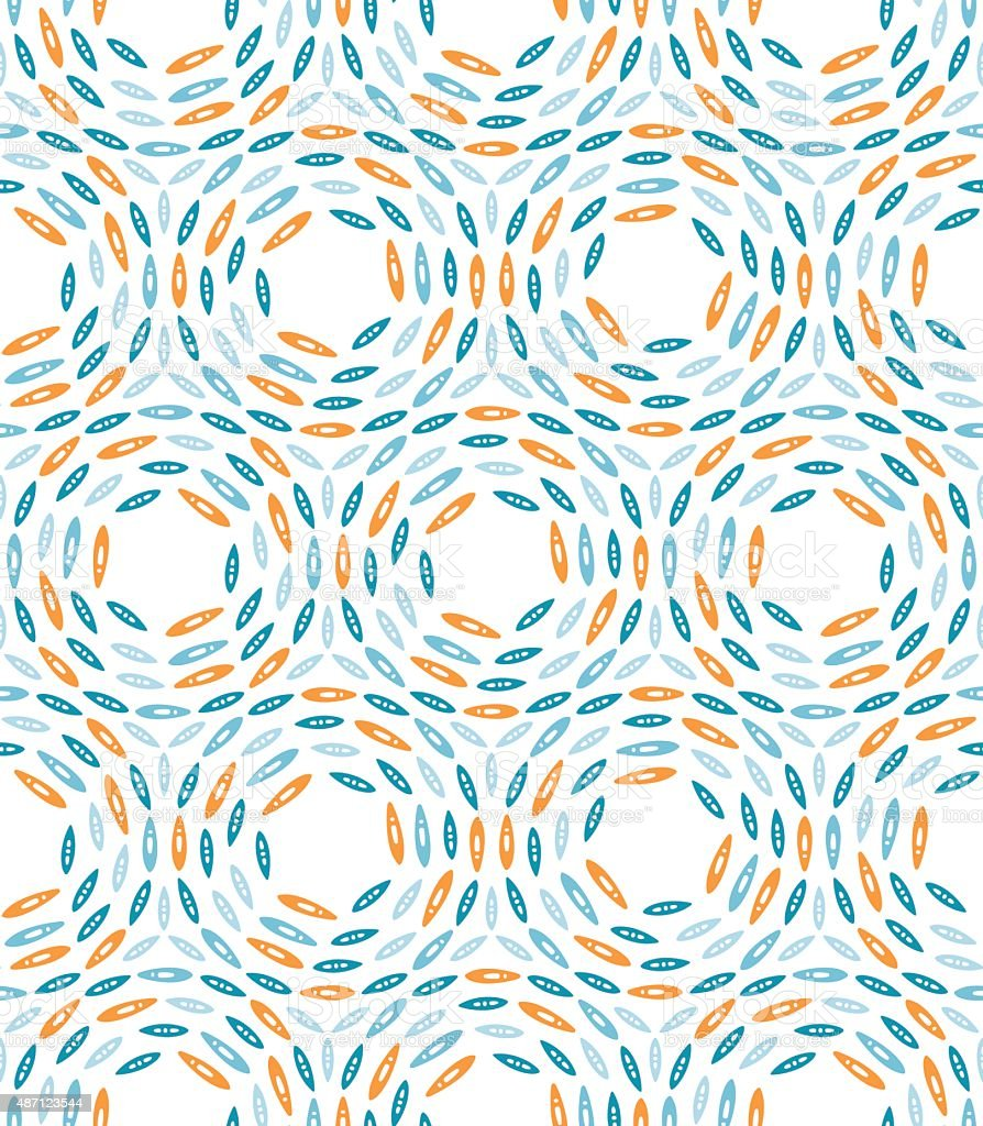 Scandinavian design pattern with colorful circles on white background vector art illustration