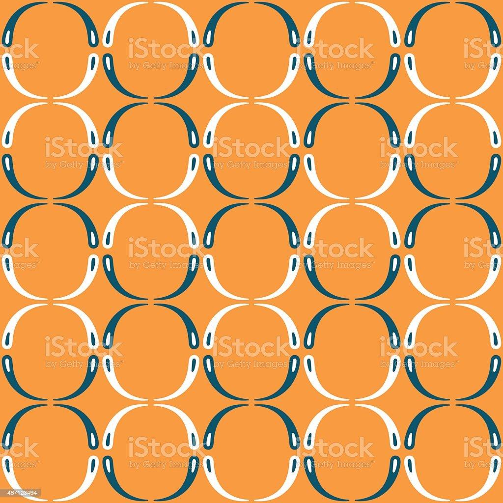 Skandinavisches design muster  Skandinavisches Design Muster Mit Rhythmischen Kreise Auf Orange ...