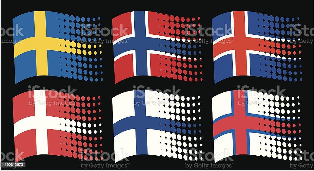 Drapeaux des pays scandinaves su de la finlande et le Maison de la scandinavie et des pays nordiques