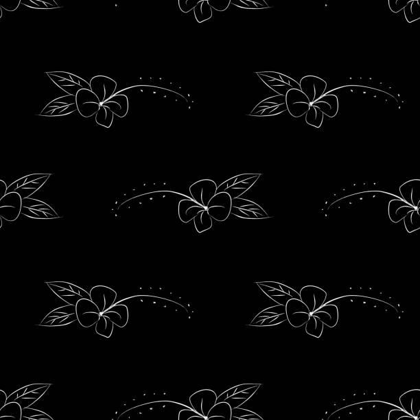 bildbanksillustrationer, clip art samt tecknat material och ikoner med skandinavisk blommig sömlösa mönster isolerad på vit bakgrund. minimalistisk trendig europeisk design för tapeter och mode textil tryck. - swedish nature