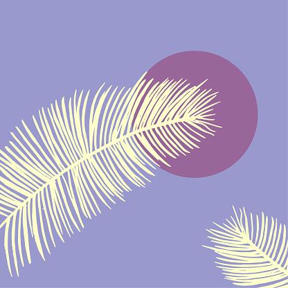 Scandinavian illustration background