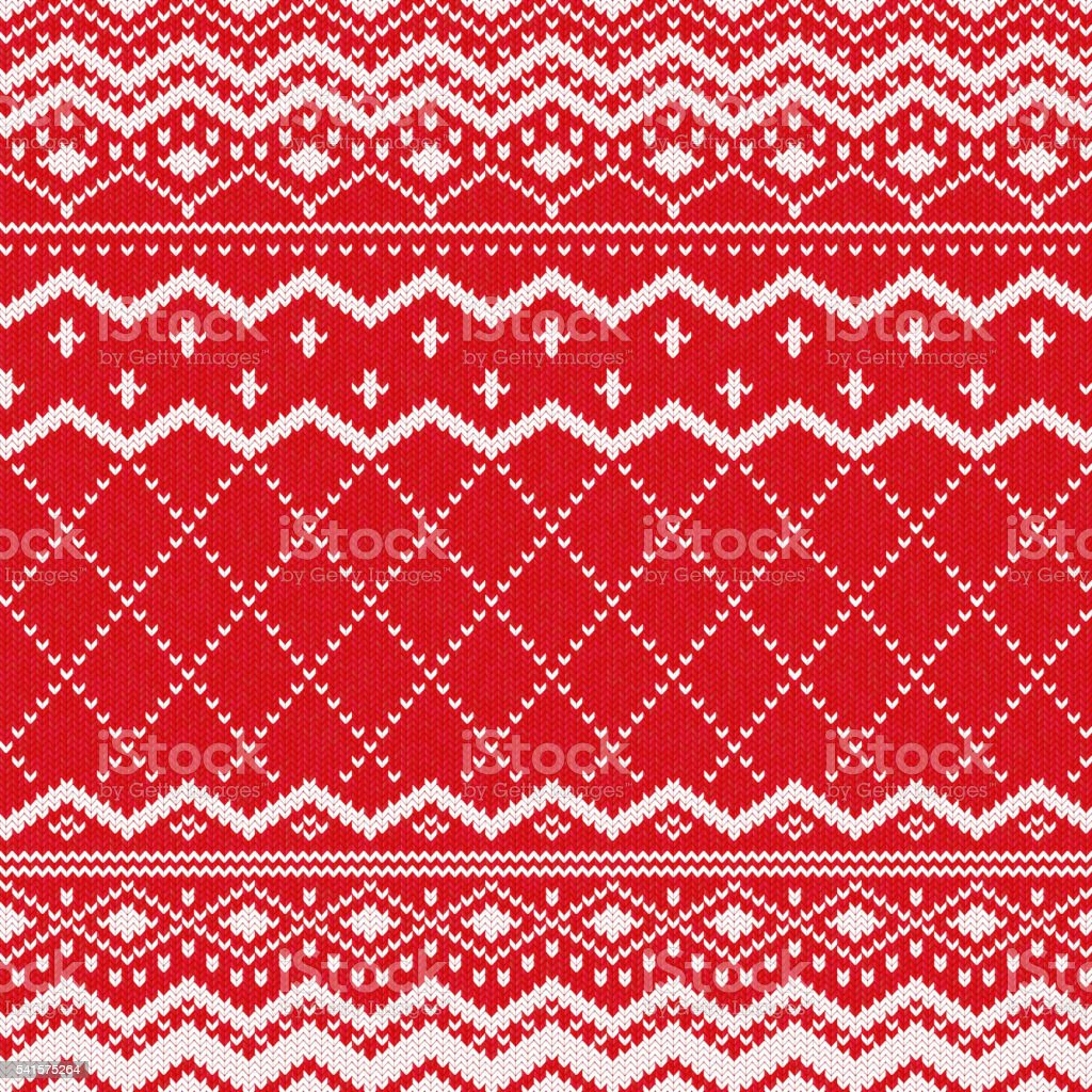 Scandinavian Knitted Pattern Or Nordic Ornament stock vector art ...