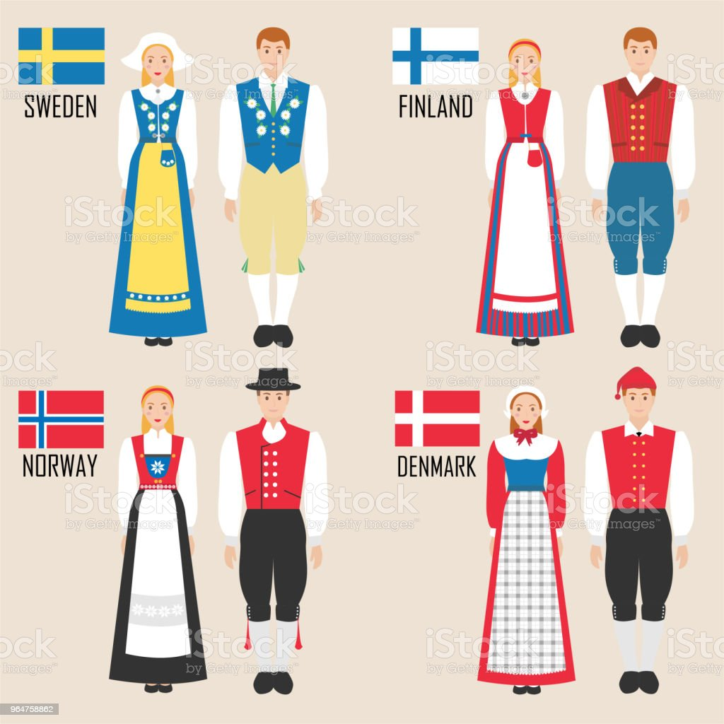 Scandinavian man and woman in traditional costumes royalty-free scandinavian man and woman in traditional costumes stock vector art & more images of adult