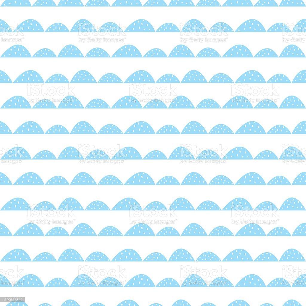 Skandinavische muster blau  Skandinavische Nahtlose Blaue Muster In Handgezeichnet Stil Vektor ...