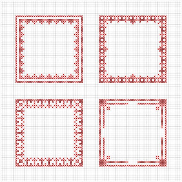 Royalty Free Cross Stitch Frame Clip Art, Vector Images ...