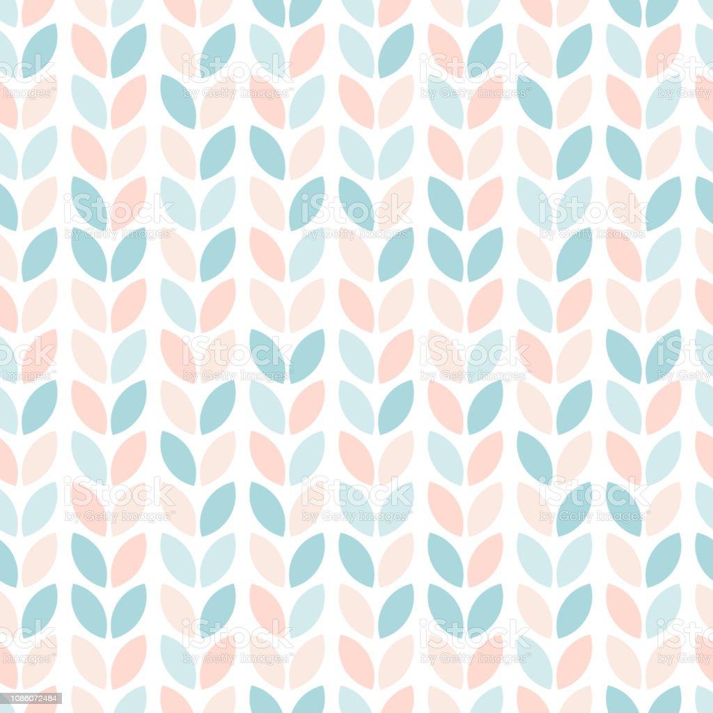 北欧スタイルの花柄シームレス パターンパステル カラーの抽象的な幾何