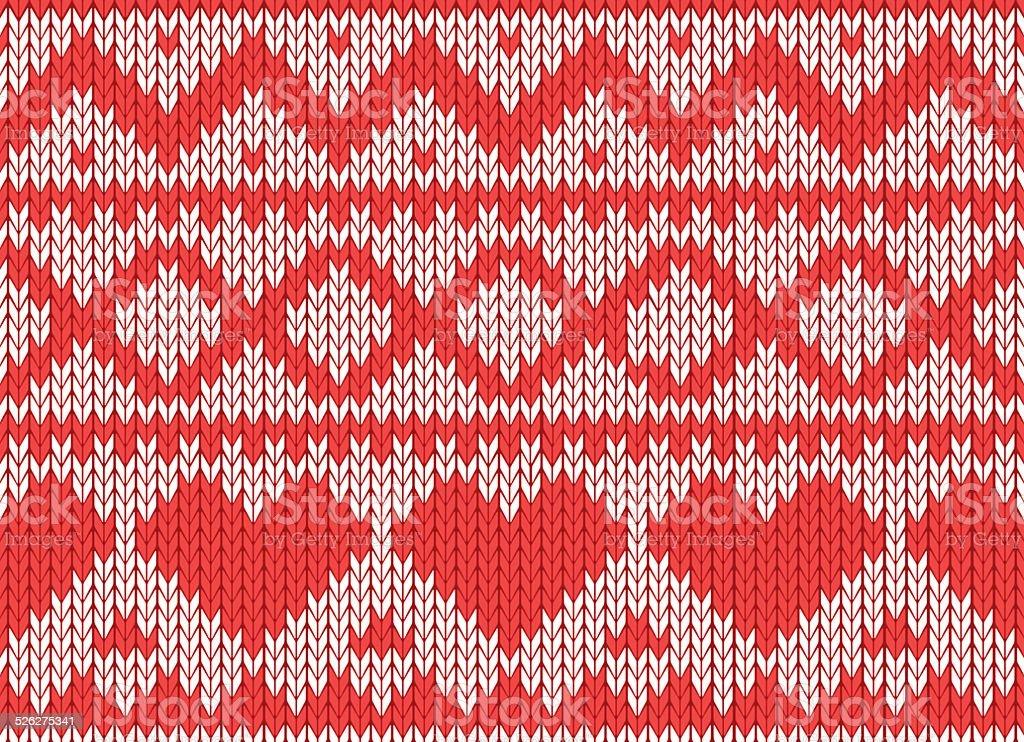 Scandinavian Style Seamless Knitted Pattern Stock Vector ...