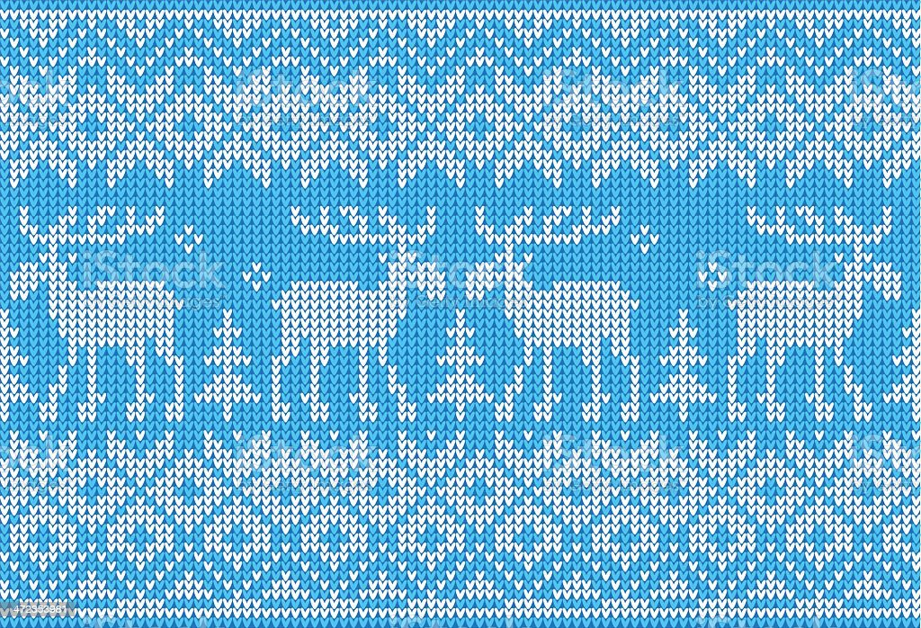 Scandinavian style seamless knitted pattern with deers royalty-free scandinavian style seamless knitted pattern with deers stock vector art & more images of animal markings