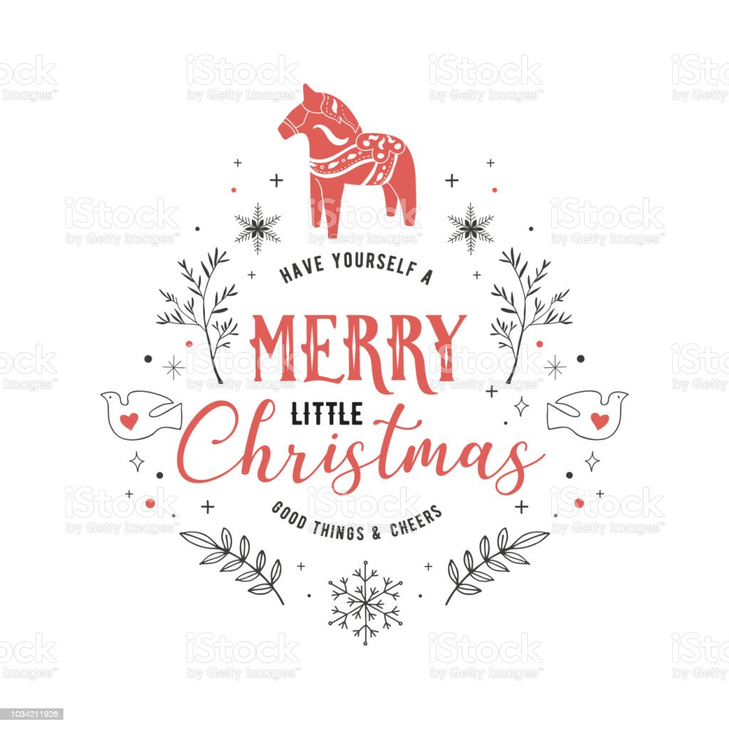 Scandinavian Style Simple And Stylish Merry Christmas Greeting Card