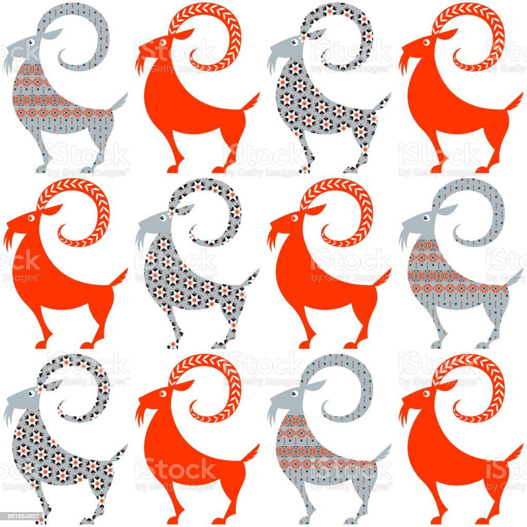 Finland Christmas Goat.Scandinavian Traditional Christmas Decoration Yule Goats