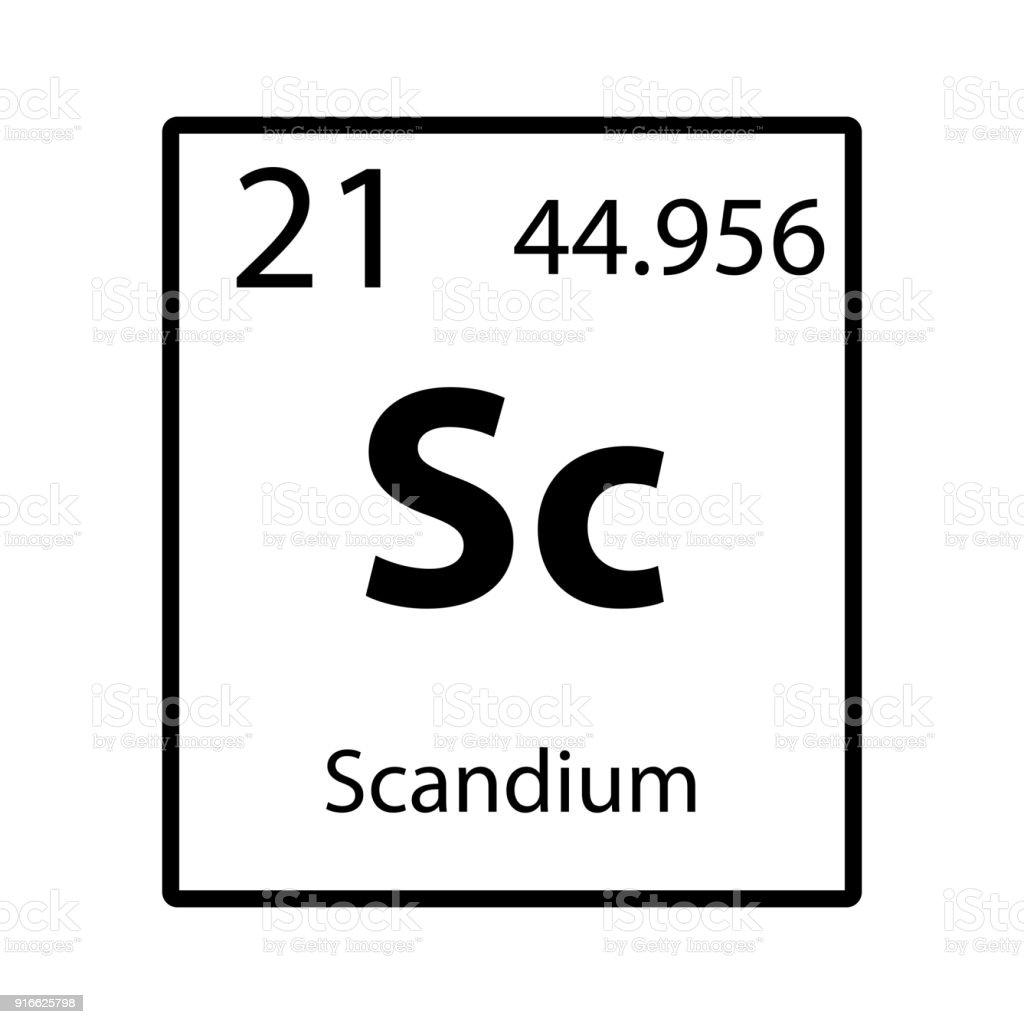 Scandium periodic table element icon on white background vector scandium periodic table element icon on white background vector royalty free scandium periodic table element urtaz Images
