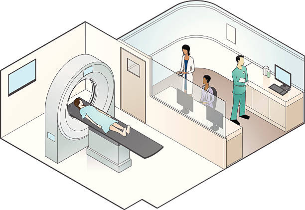 MRI Scanner Illustration vector art illustration