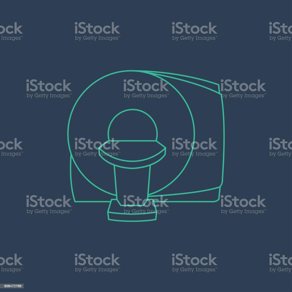 CT Scanner machine icon vector symbol vector art illustration