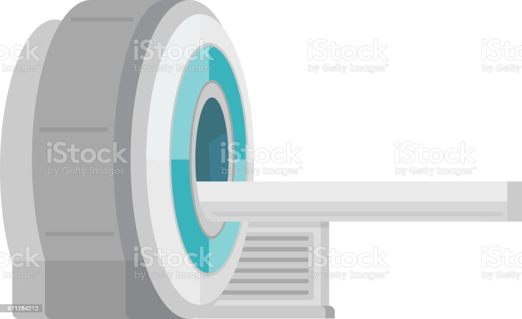 MRI scanner machine vector cartoon illustration vector art illustration