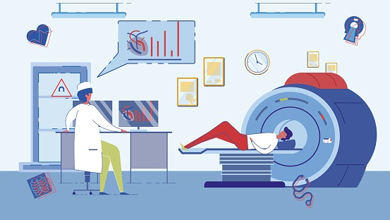 CT Scanner or Magnetic Resonance Imaging Cabinet.