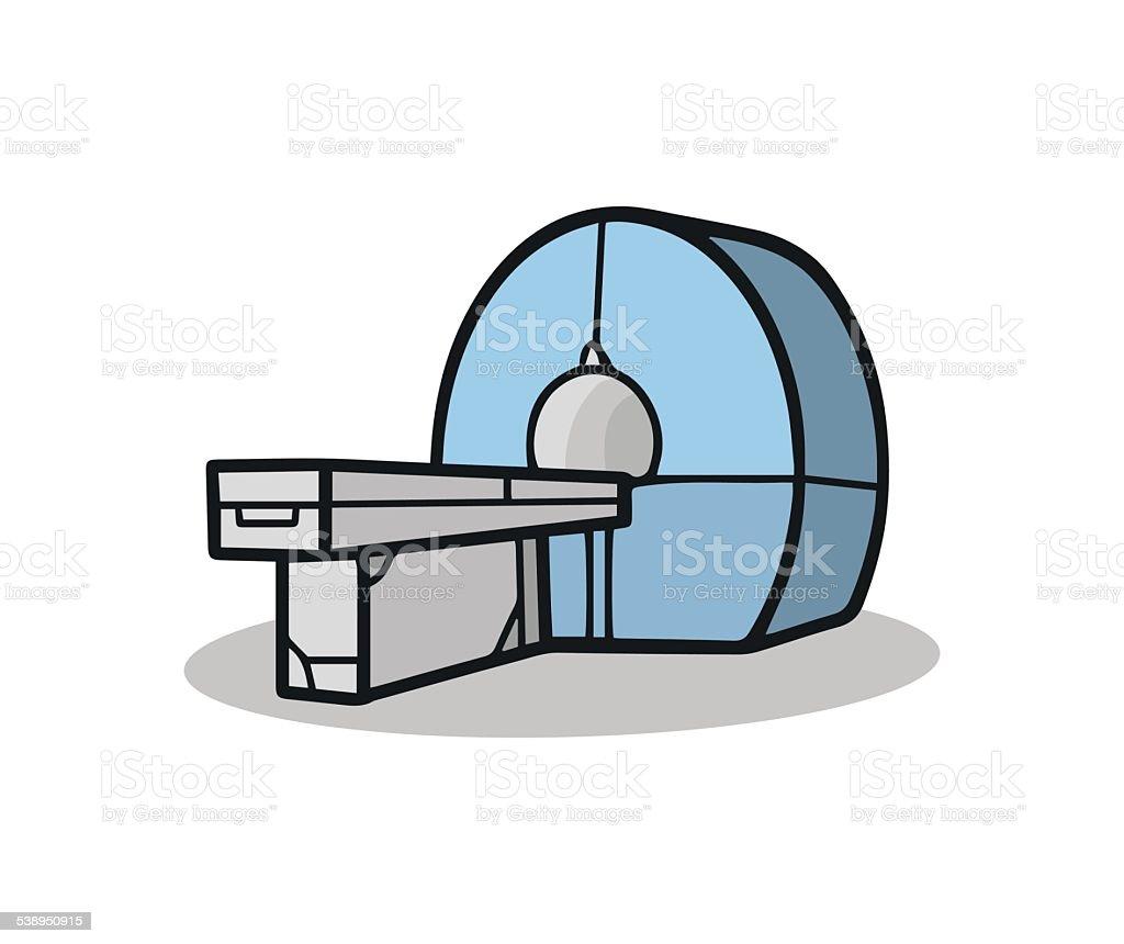 CT scanner vector art illustration