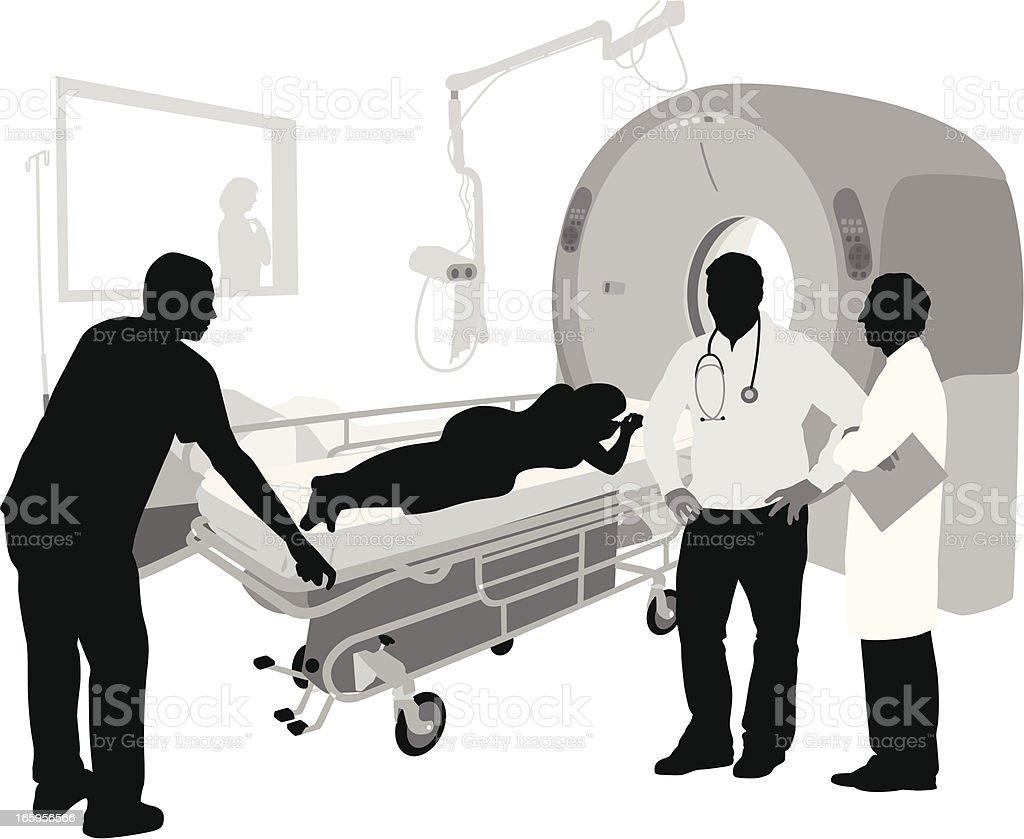 Scanner Vector Silhouette vector art illustration