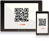 Scanning QR code Tablet pc and mobile phone