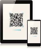 Scanning QR-Code with mobile phone and tablet pc