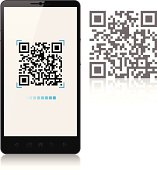 Scanning QR-Code with mobile phone, smartphone