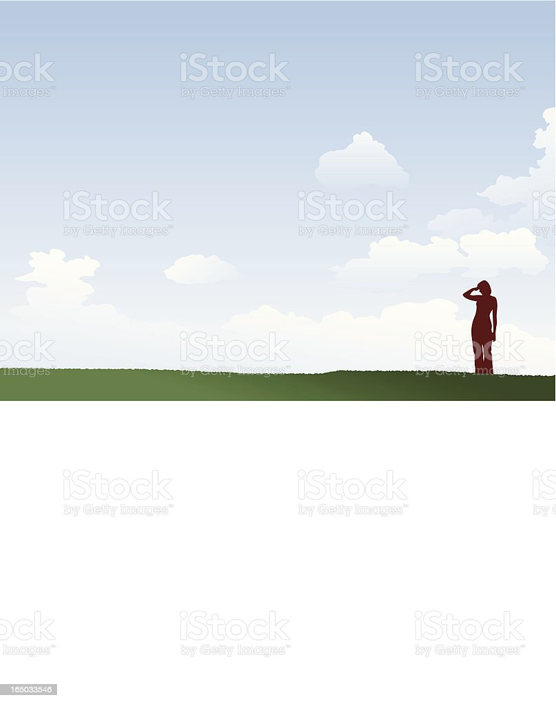 Scanning the Horizon royalty-free scanning the horizon stock vector art & more images of adult