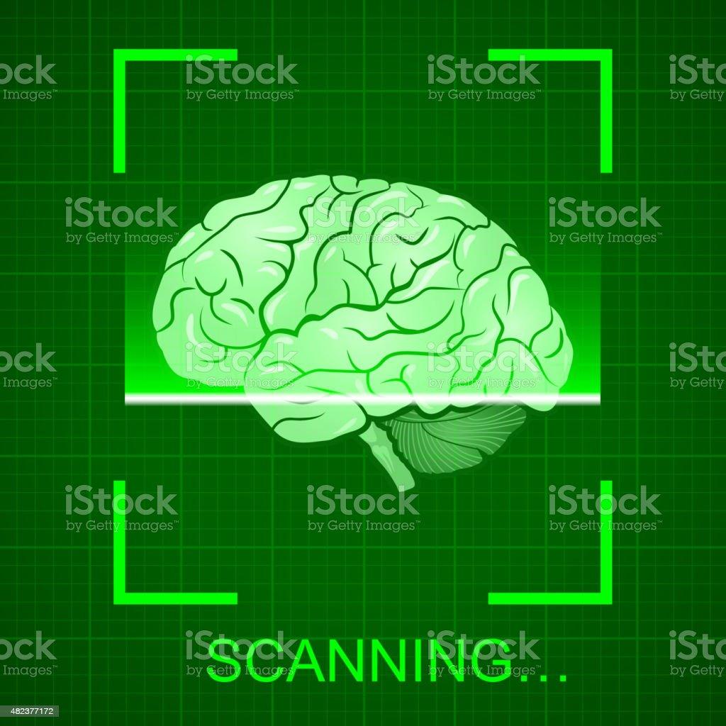 Scanning vector art illustration