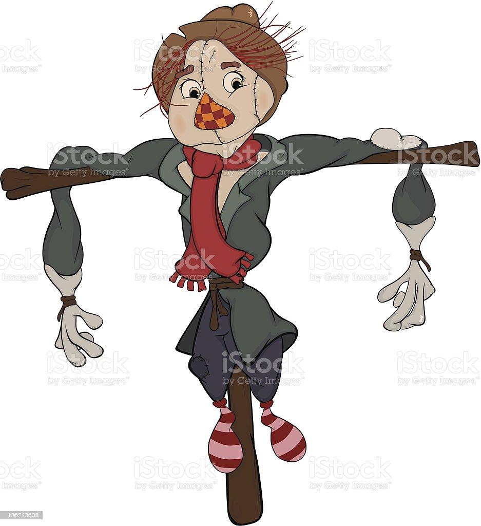 Scarecrow. Cartoon royalty-free stock vector art