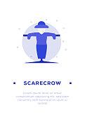 istock Scarecrow Icon 1211939288