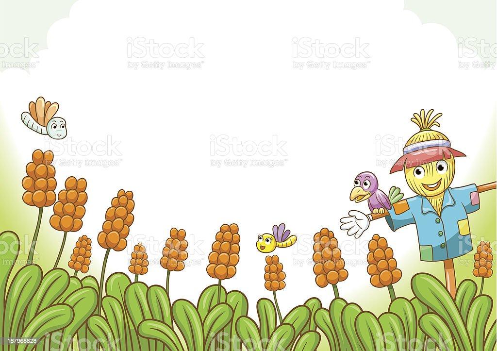 Ilustración de Espantapájaros y más banco de imágenes de Agricultura ...