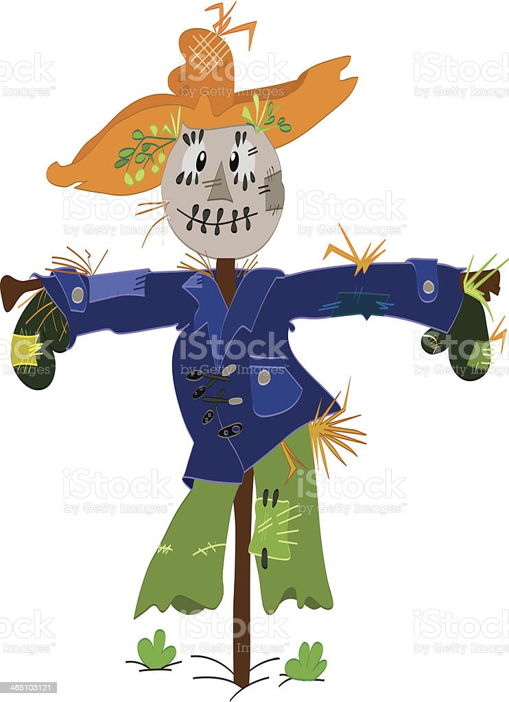 royalty free cartoon of cute scarecrow clip art vector images rh istockphoto com free scarecrow clipart images fall scarecrow clipart free