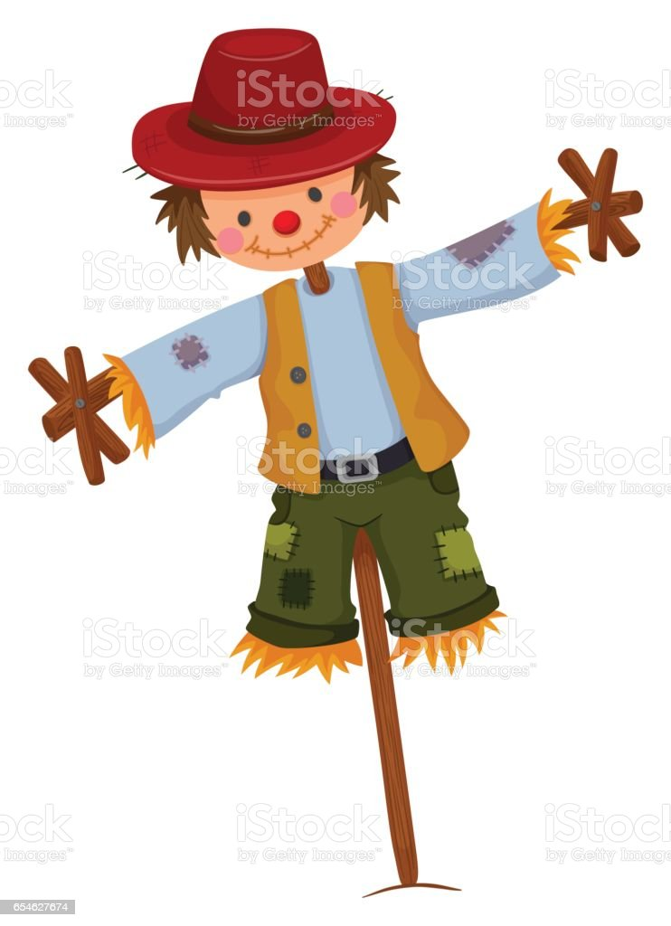 royalty free scarecrow clip art vector images illustrations istock rh istockphoto com clipart scarecrow hat scarecrow clipart free