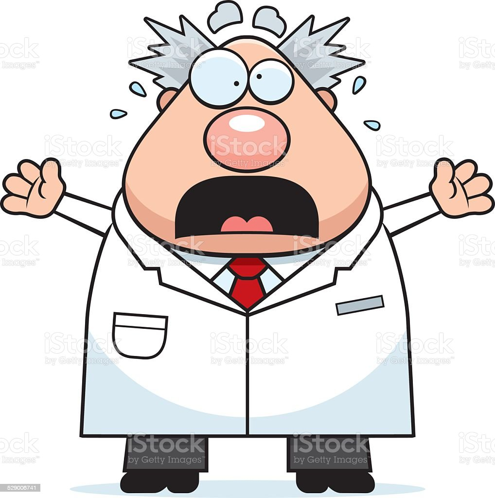 scared cartoon mad scientist stock vector art more images of adult rh istockphoto com mad scientist clipart images mad science clipart free